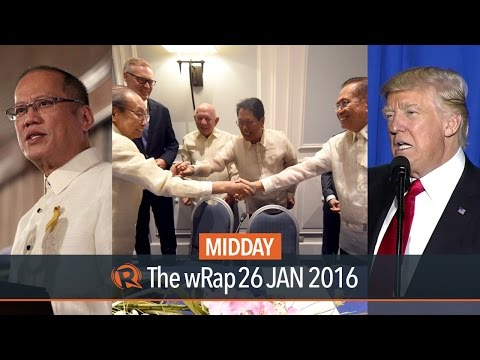 Aquino, peace talks, Trump | Midday wRap