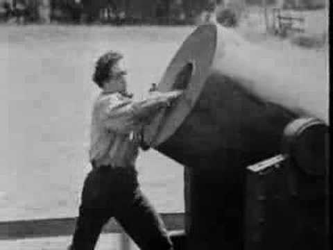 Buster Keaton Performing Stunts in The General