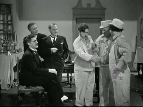The Three Stooges: Moe becomes hailstone dictator of moronica (he looks just like Hitler)