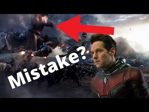 Avengers Endgame Ant-Man editing mistake