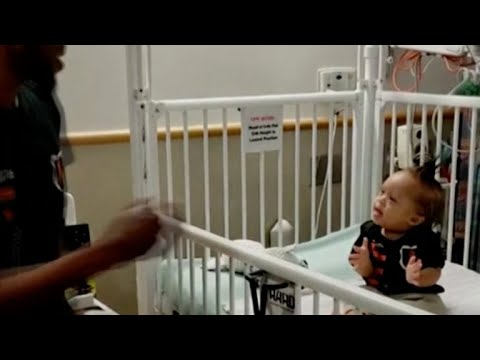 """Dad dances to """"Level Up"""" challenge for son with leukemia, gets Ciara's attention"""