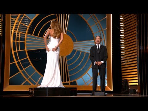 Sofia Vergara Gets Put on a Pedestal at Emmys 2014