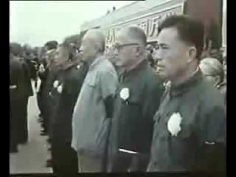 Hua Guofeng reads an eulogy on Mao Zedong, September 1976