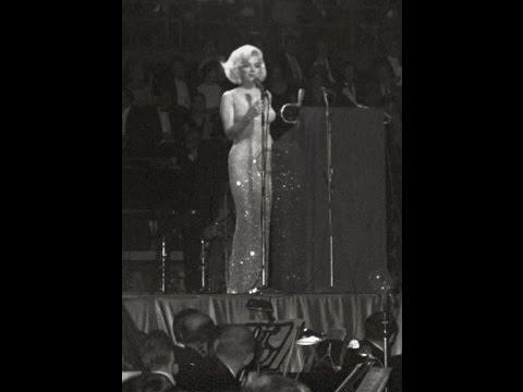 Marilyn Monroe Singing Happy Birthday/Thanks For The Memories To President John F Kennedy 1962