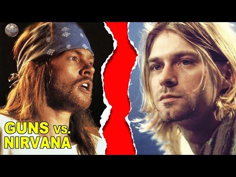 The Petty Feud Between Guns n' Roses vs. Nirvana