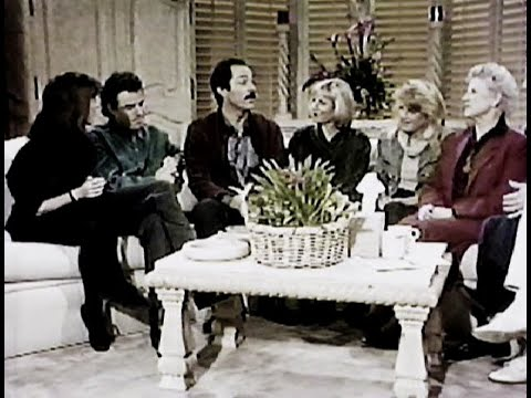 """The Bradys"" The Brady Bunch Cast on AM LA 1990 Martha Quinn"