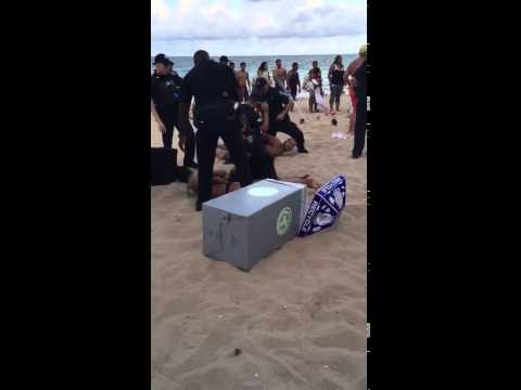 Memorial Day Beach Party Fight