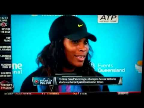 Serena Williams HATES Tennis and Sports - Admits and Says it!