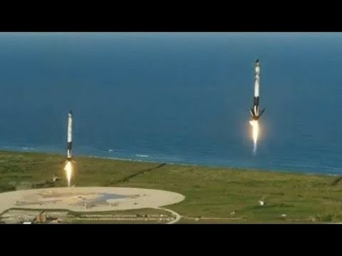 SpaceX Lands All 3 Falcon Heavy Boosters for the First Time