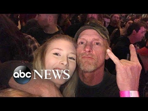 Daughter signs for her deaf dad at rock concert