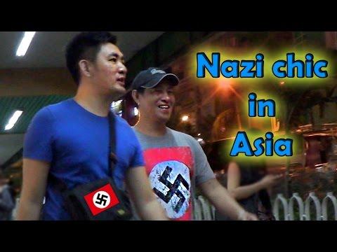 Asian guy wears Nazi shirt in public