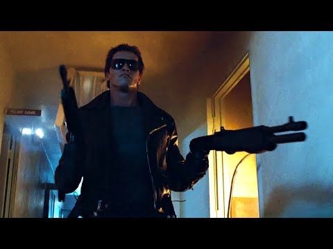 I'll be back (Police station assault) | The Terminator [Open Matte, Remastered]