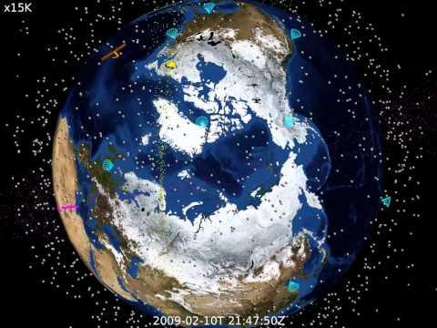 LLNL TESSA Simulation of 2009 Cosmos+Iridium Satellite Collision