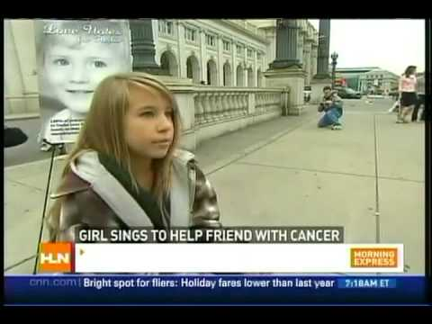 "Abby Miller on CNN's Headline News for her ""Love Notes for Taylor"" fundraising efforts"