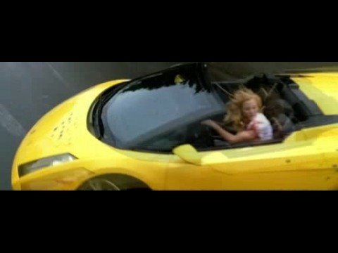 Uma Thurman in Mission Zero (Pirelli) Lamborghini Gallardo