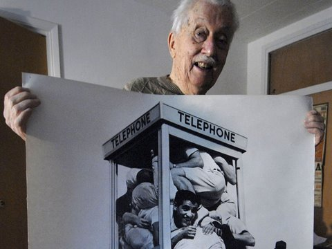 Phone Booth Stuffing Anniversary