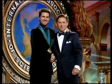 Tom Cruise accepting Scientology Award