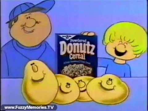 Powdered Donutz Cereal (Commercial, 1982)