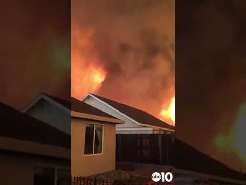 """What the Carr Fire vortex or """"firenado"""" looks and sounds like"""
