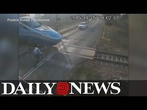 Bicyclist gets hit by speeding train... and survives