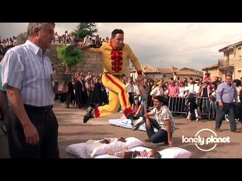 Baby-jumping festival in Spain - Lonely Planet travel video