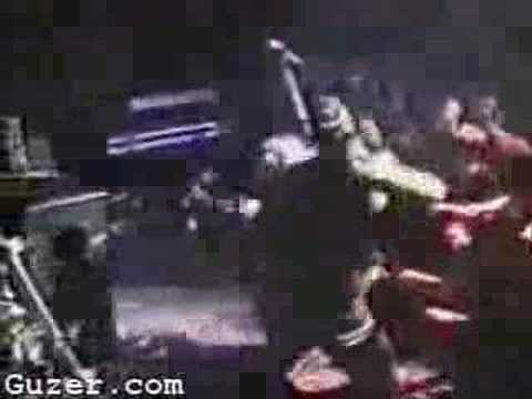 Kurt Cobain gets punched on stage