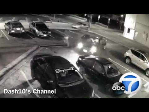 Robber gets RAN OVER by car (instant karma)