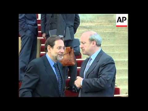 FRANCE: JAVIER SOLANA HOLDS TALKS WITH FOREIGN MINISTER VEDRINE
