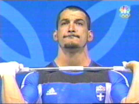 Pyrros Dimas - 207.5kg. C&J Gold Medal Attempt 2004 Olympics