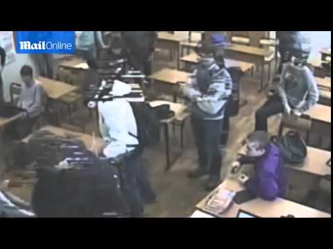 SHOCKING footage of teen being bullied by classmates