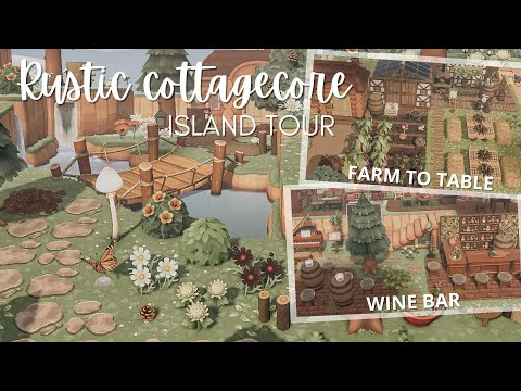 Beautiful Rustic Cottagecore Island: Animal Crossing New Horizons Island Tour