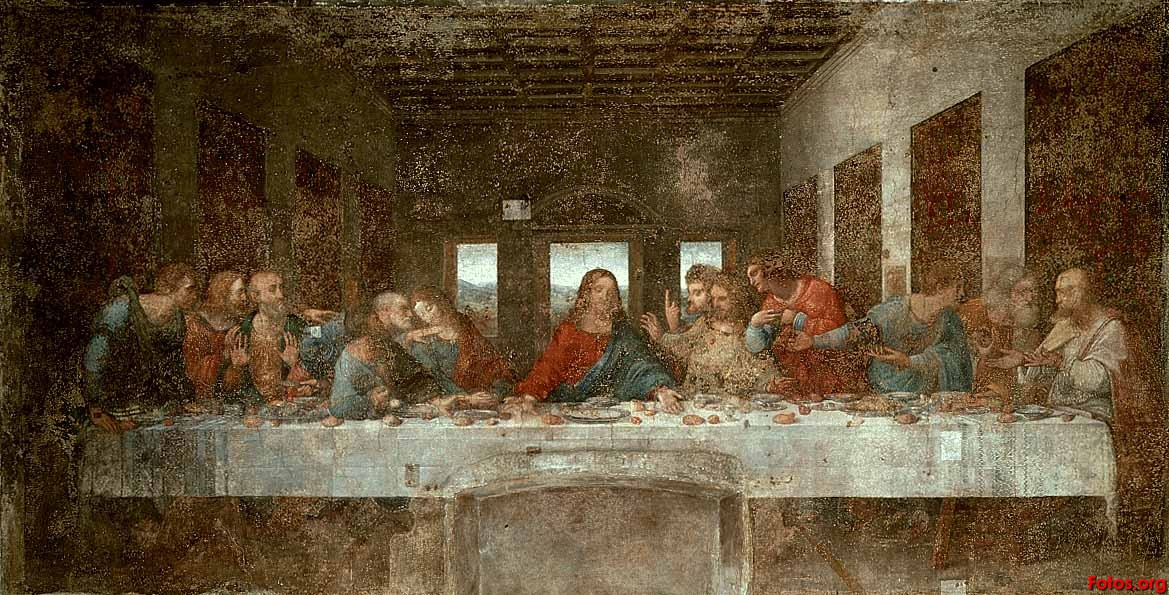 the last supper by leonardo davinci A laptop screen shows musical notes possibly encoded in leonardo da vinci's  last supper a 45-year-old italian musician who lives near the.