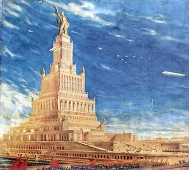 Iofan Palace Of Soviets Square 1933