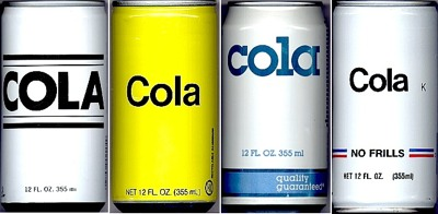 Generic Cola Cans 1980S