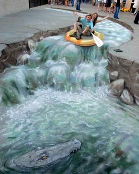 Rafting-By-Julian-Beever