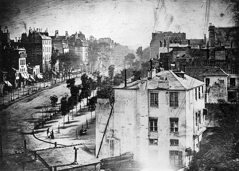 Daguerre First Human Photo