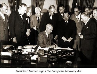Marshall Plan Signing