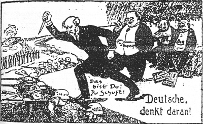 Stab-In-The-Back Cartoon 1924