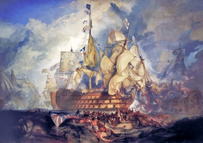 Turner The Battle Of Trafalgar 1822