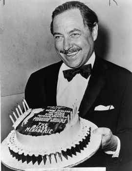 Tennessee Williams With Cake Nywts