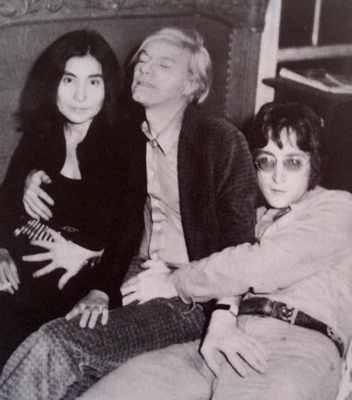 John Lennon, Yoko Ono, Andy Warhol