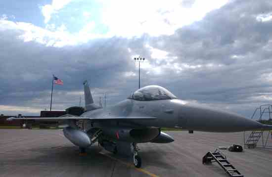 F-16 At Duluth Air National Guard Base