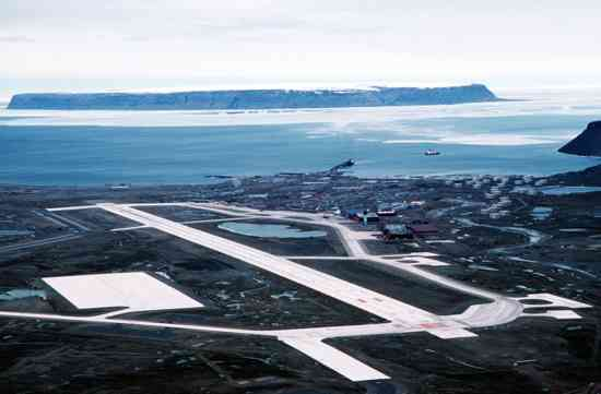 Thule Air Base Aerial View