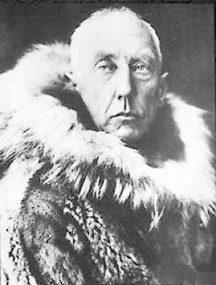 Roald Amundsen Wearing Furskins