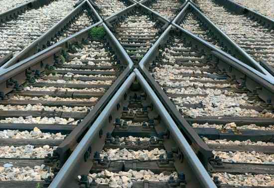 Stock Traintracks Close