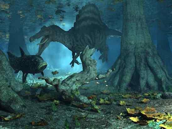 Spinosaurus-Swimming