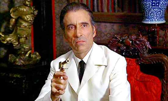 Christopher Lee Francisco Scaramanga Bond Villain The Man With The Golden Gun Dracula Bafta Fellow Award