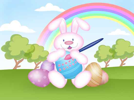 Easter Bunny Wallpaper-4800