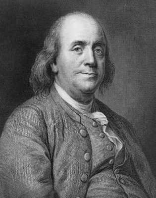Benjamin Franklin Engraving