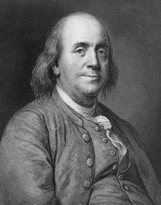 Benjamin Franklin Engraving